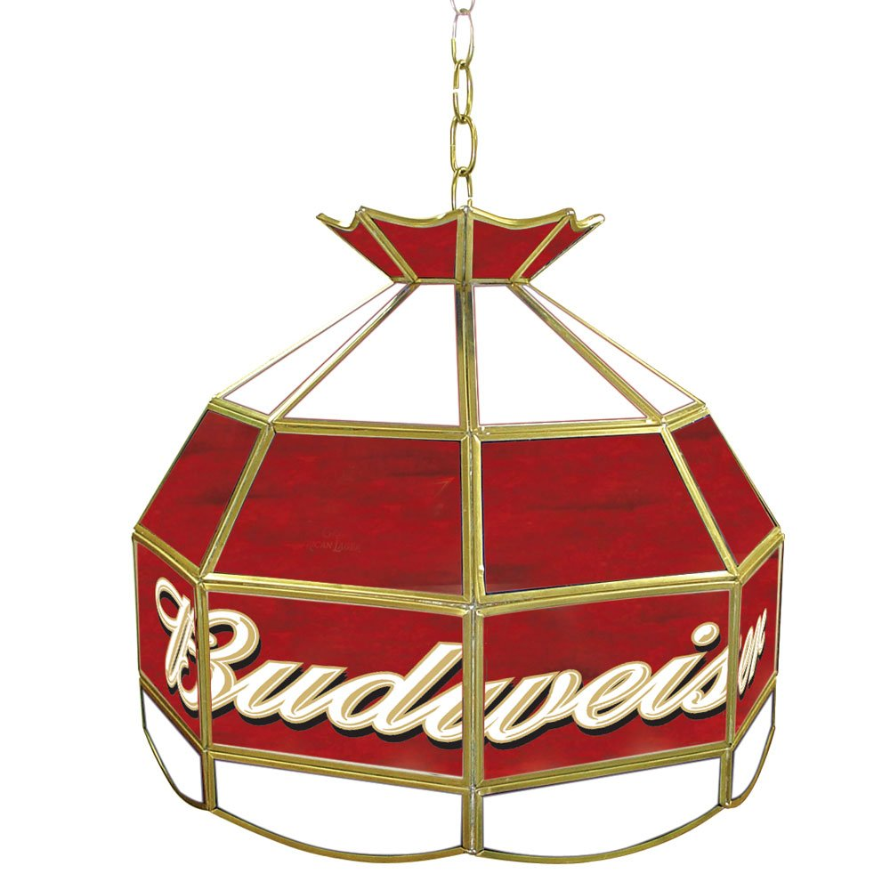 Amazon com budweiser tiffany gameroom lamp 16 ceiling pendant fixtures sports outdoors