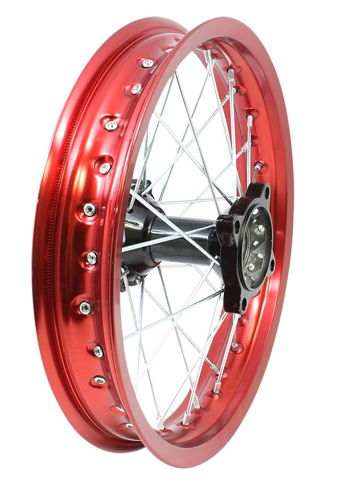 14'' Aluminum RED Rear Rim Wheel Disk Brake Apollo SSR 125cc XR CRF Dirt Pit Bike Chines Made Dirt Bikes 12mm Shaft