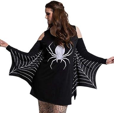 Womens Halloween Ladies Skull Choker Neck Keyhole Cold Cut Shoulder Mini Dress