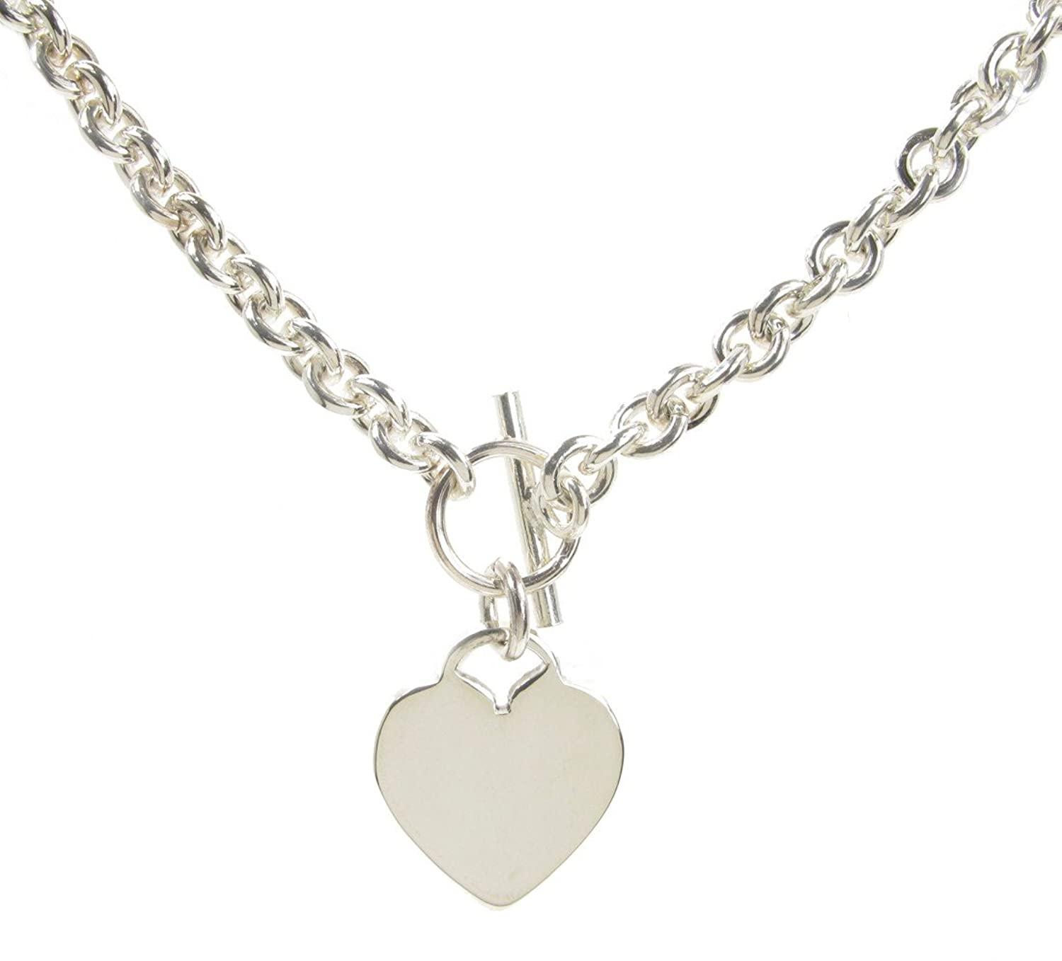 Sterling silver tiffany style heart charm necklace amazon sterling silver tiffany style heart charm necklace amazon jewellery aloadofball Choice Image