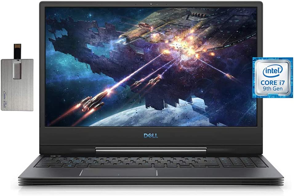 "2020 Dell G7 7000 15.6"" FHD IPS 144Hz Display Gaming Laptop Computer, Hexa-core Intel i7-9750H, 16GB RAM, 512GB PCIe SSD, Backlit KB, NVIDIA RTX 2060 Graphics, Win 10, Black, 32GB SnowBell USB Card"