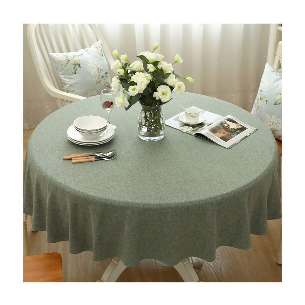 ラウンドテーブルクロス ラウンドテーブルクロスファッションシンプルな家庭用装飾無地ライトグリーンテーブルクロスモダンなレストランホテルの宴会耐久性のあるテーブルクロス テーブルクロス (サイズ さいず : Round-190cm) Round-190cm  B07RXTFX61