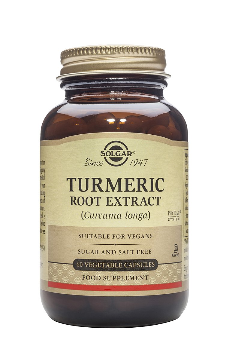 Solgar – Standardized Turmeric Root Extract, 60 Vegetable Capsules