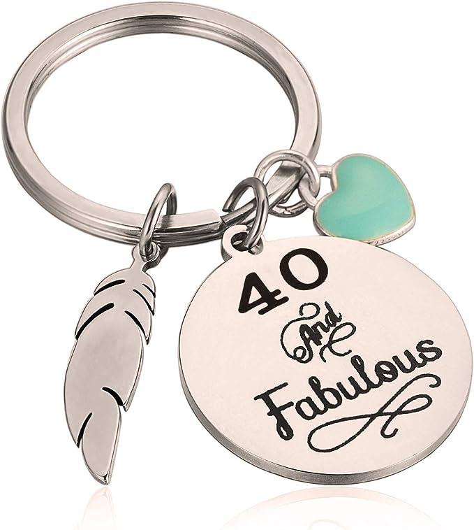 Amazon.com: Regalo de 40 cumpleaños para ella 40 y fabuloso ...
