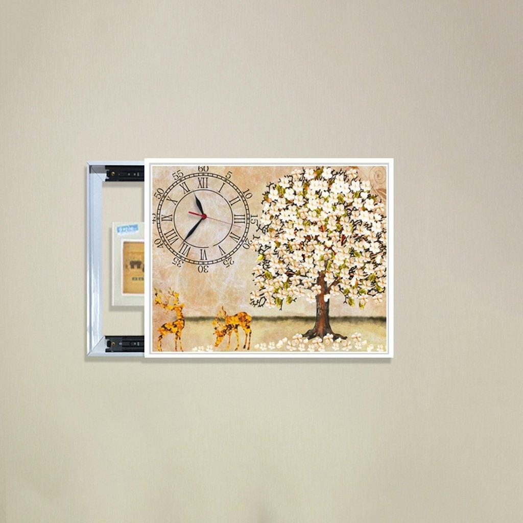 3Dアートサイレント防水絵画壁時計装飾的な背景クリエイティブアートマイクロフレームクリスタルクロックトリプルハンギング絵画の水平バージョン居間 (サイズ さいず : 40*50cm) B07DDCCQKY 40*50cm 40*50cm
