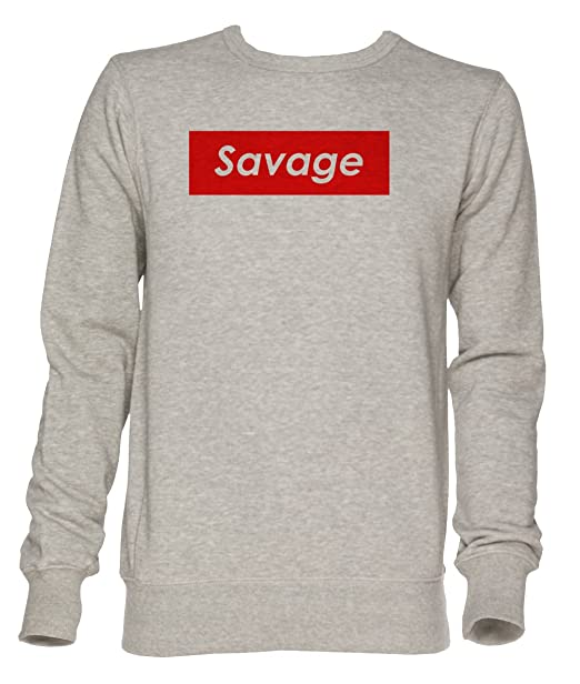 Savage Unisexo Gris Jersey Sudadera Hombre Mujer Tamaño XXL | Jumper For Men and Women Size XXL: Amazon.es: Ropa y accesorios