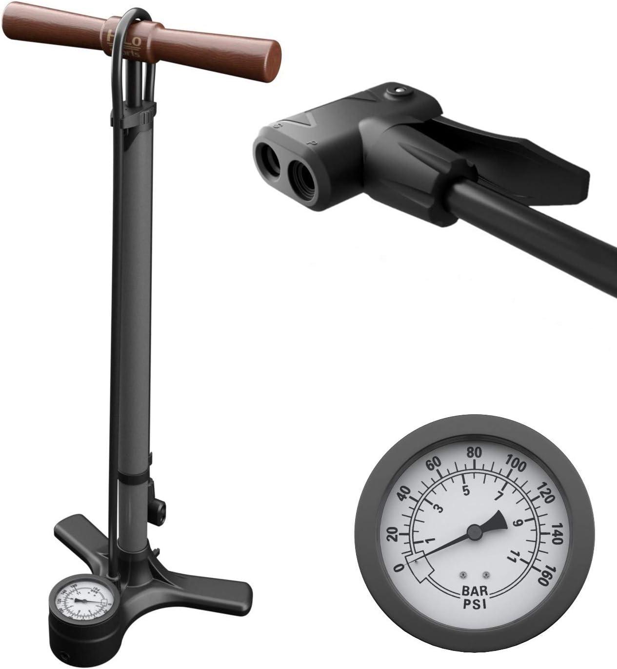 120psi Fahrradpumpe Standpumpe Hochdruck Luftpumpe Ballpumpe Passen alle Ventile
