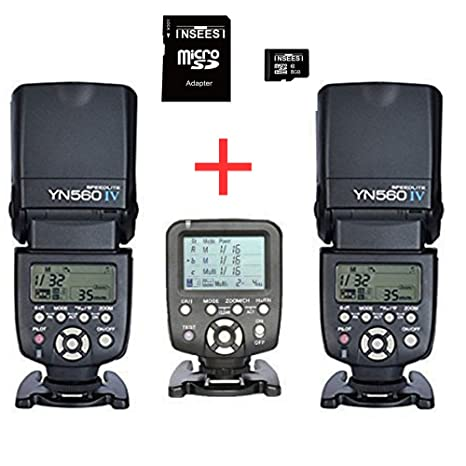 Yongnuo YN-560IV 2pcs flash inalámbrico Speedlite Kit + YN560-TX ...