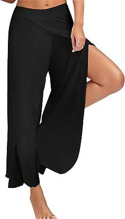 Tenxin Pantalones Casuales de Mujer, Pantalones de Yoga Pantalones de Fitness Ancho de Algodón Super Suave y Transpirable para Sports, Pilates, Fitness: Amazon.es: Ropa y accesorios