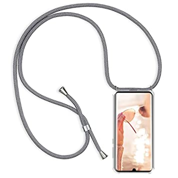 Anti-Choque Anti-rasgu/ños Oro Rosa Moda y Practico YuhooTech Funda con Cuerda para Huawei Mate 10 Lite, Suave Silicona Transparente TPU Carcasa de movil con Colgante//Cadena