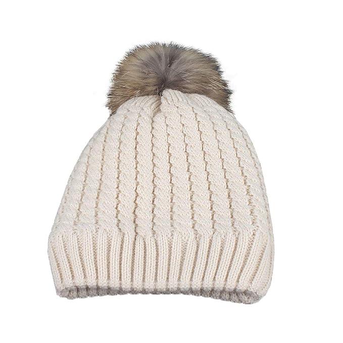 Boomly Autunno e Inverno Calda Morbidi Crochet Elegante Cappello in  Lavorato a Maglia Berretti da Sci 2127934a91ef
