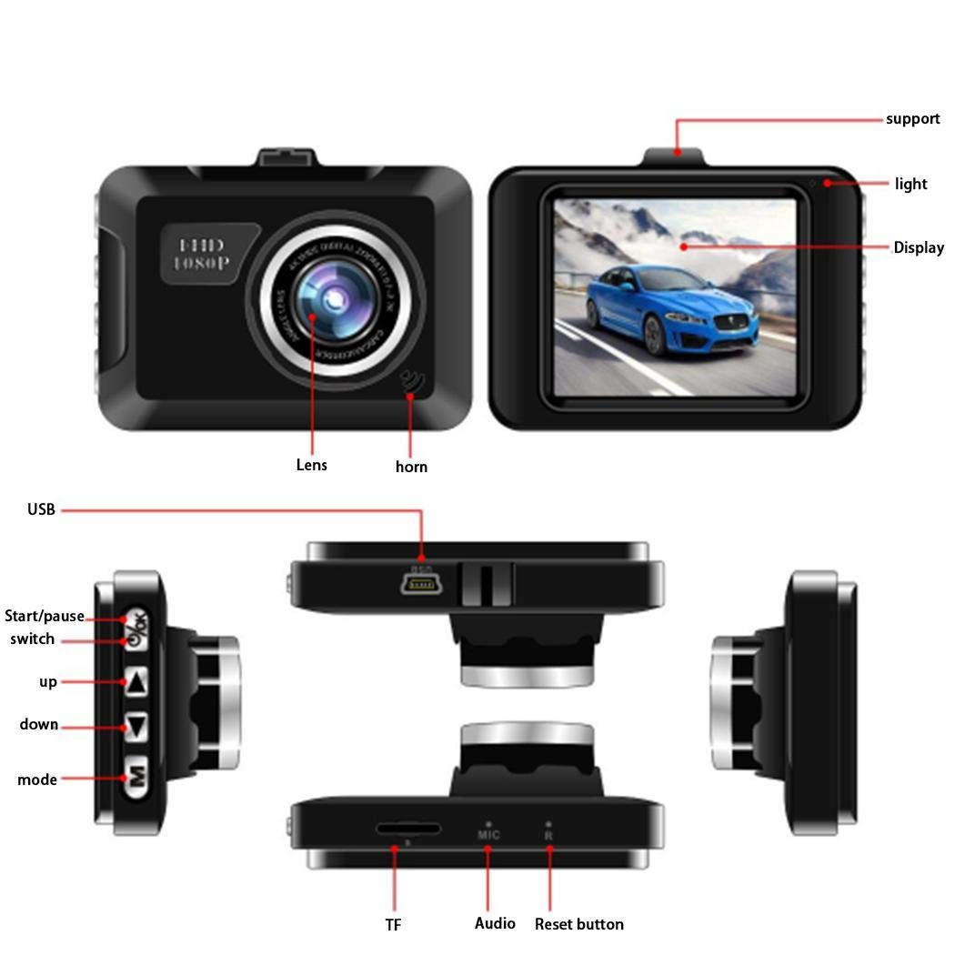 Atmeyol HD 1080P Multi-function Mini Driving Recorder 2.2 inch Display Screen On-Dash Video by Atmeyol_Car Electronics (Image #3)