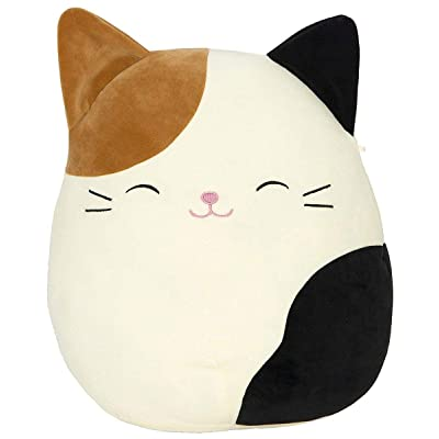 "SQUISHMALLOW Cameron The Cat Pillow Stuffed Animal, Tricolor, 16"": Toys & Games"