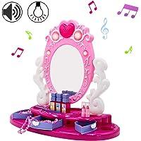 deAO Centro de Belleza Tocador con Espejo