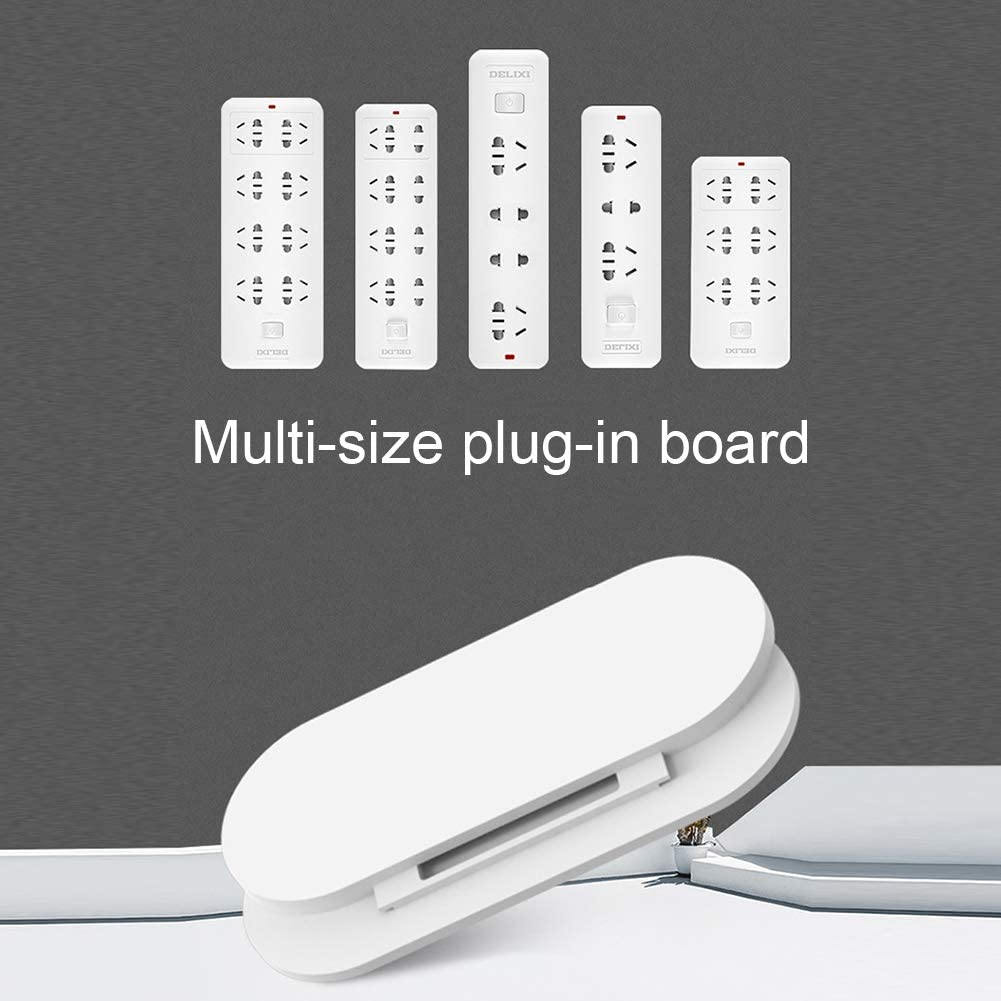 5pcs Wall-Mount Self Adhesive Power Strip Holder Fixator Socket Cable Organizer Fixer Rack