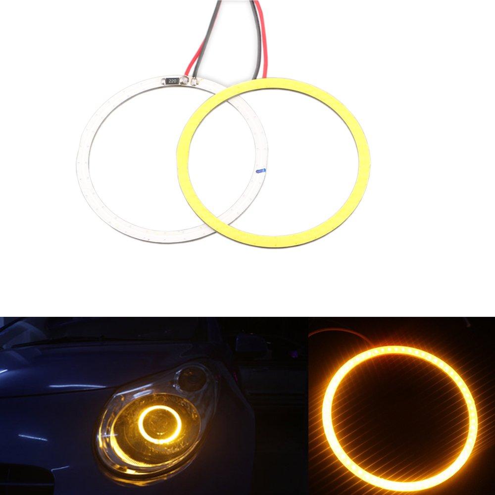 Grandview 1 Par Blanco 100mm COB ojos del á ngel del halo de luz del anillo de la lá mpara 72 SMD LED Faros de coches luces de la decoració n Lá mparas de niebla DC12V