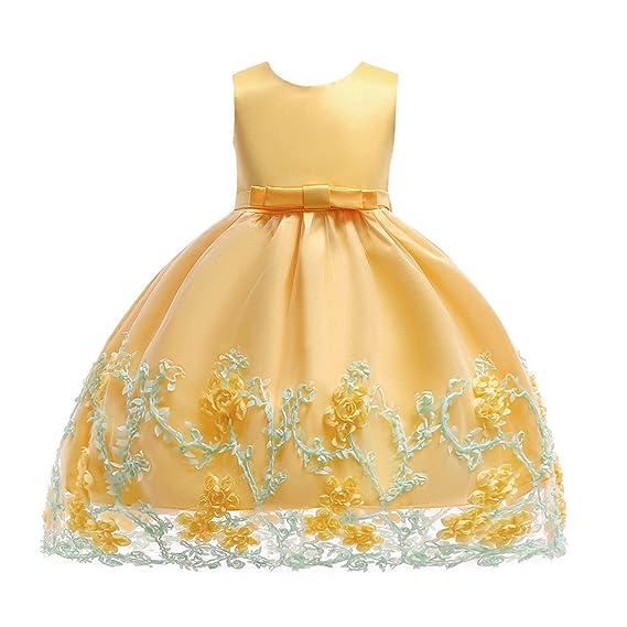 Lonshell Flor bebé niñas Vestido de Princesa Vestidos sin Mangas niña de Fiesta Ropa Formal Vestidos