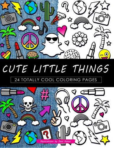 Download Cute Little Things Coloring Book: 24 Page Coloring Book PDF