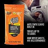 Dead Down Wind Dryer Sheets | 15 Odorless Sheets