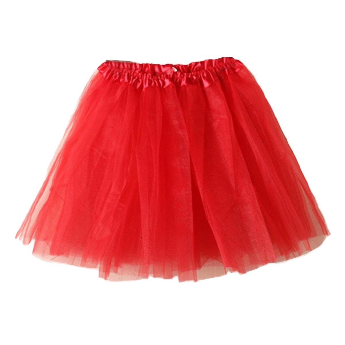WESTLINK Women's Mini Tutu Skirt Elastic Layered Tulle Costume Party Dance