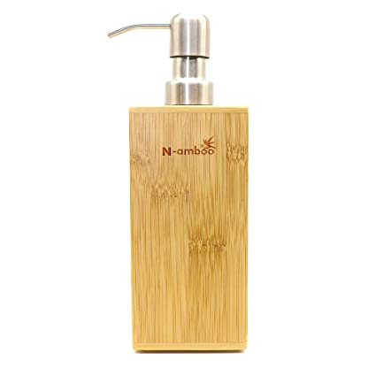 Amazon.com: N-amboo Bamboo Refillable Empty Pump Bottles Jars with Pump Tops for Makeup Cosmetic Bath Shower Toiletries Liquid Container Bathroom ...