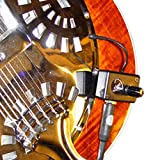 TRIOLIAN RESONATOR GUITAR PICKUP with FLEXIBLE MICRO-GOOSE NECK by Myers Pickups ~ See it in ACTION! Copy and paste: myerspickups.com