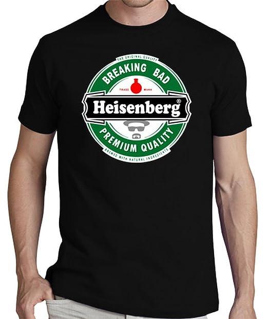 latostadora Camiseta Breaking Bad: Cerveza Heisenberg - Camiseta Hombre clásica, Negro Talla S: Amazon.es: Ropa y accesorios