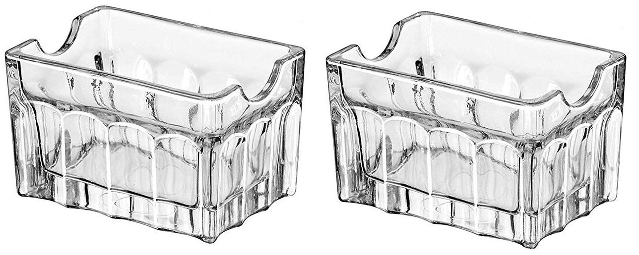Libbey Clear Glass Sugar Packet Holder - 2 pcs