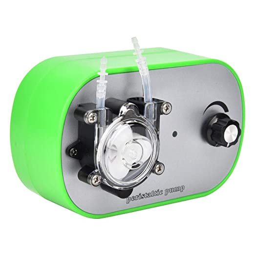 G728-1 Peristaltic Pump 12V DC Fresh Water Pressure Diaphragm Pump Three Rollers Miniature Automatic Self Priming Pump Stepless Speed Regulation Single Pump Head with Hose Clamps #4