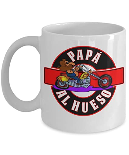 Papa Al Hueso (Dad To The Bone) Spanish Language Coffee Mug Dia del padre