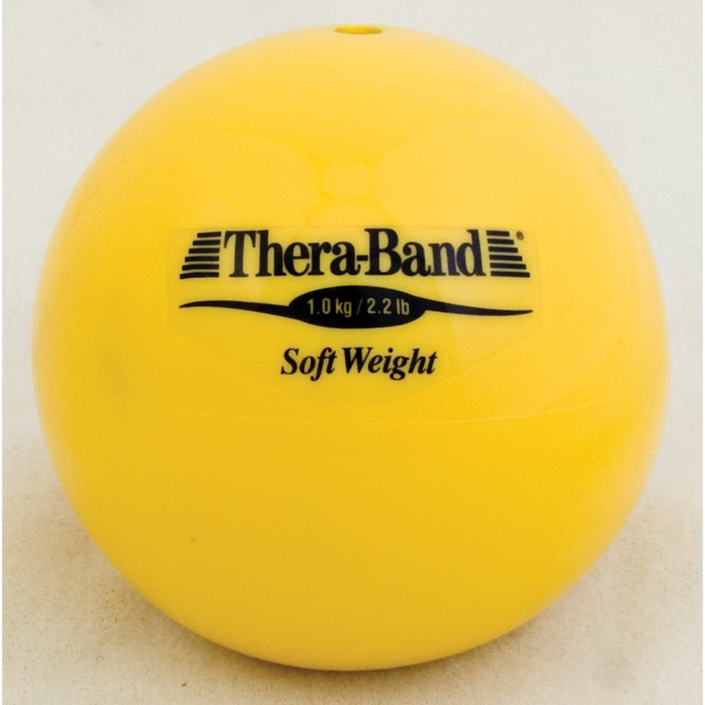 Hygienic/Theraband 25821 Soft Weight Ball, Yellow, 2.2 lb. (Pack of 6)
