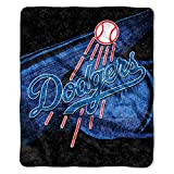 "Officially Licensed MLB Los Angeles Dodgers Big Stick Sherpa Throw Blanket, 50"" x 60"""