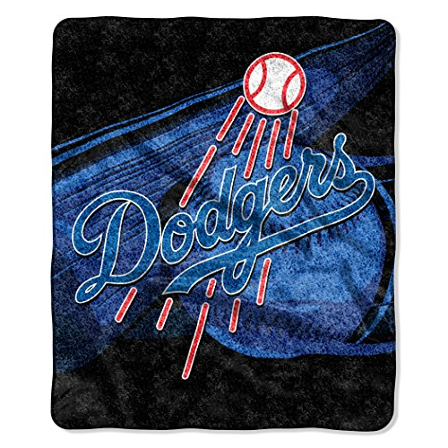 y Officially Licensed MLB Los Angeles Dodgers Big Stick Sherpa Throw Blanket, 50