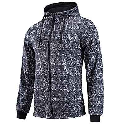 FZDX Hoodie Men's Slim Fit Long Sleeve Lightweight Full-Zip Hooded Sweatshirt Camouflage
