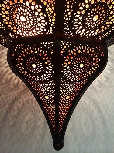 Orientalische Lampe Pendelleuchte Weiss Aariz 60cm E27 Lampenfassung