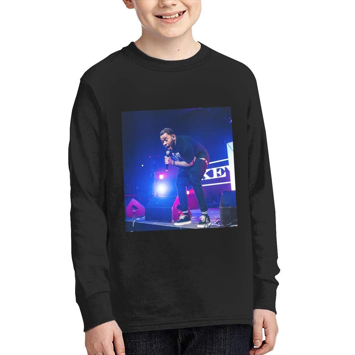 RhteGui Kevin Gates Boys /& Girls Junior Vintage Long Sleeve T-Shirt Black