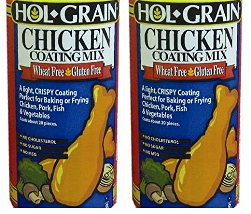 Hol-Grain Wheat & Gluten Free Chicken Coating Mix (Pack of 2) 7 oz Shakers