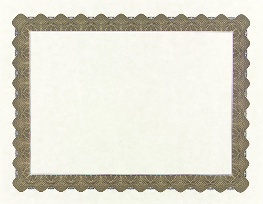 """Great Papers! Metallic Gold Border Certificate, 8.5""""x 11"""", 100 Count (934000)"""