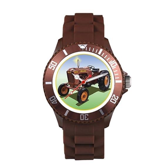 Sueño etapa agricultura plástico reloj deportivo S Jet marrón plástico deporte reloj para hombre: Amazon.es: Relojes