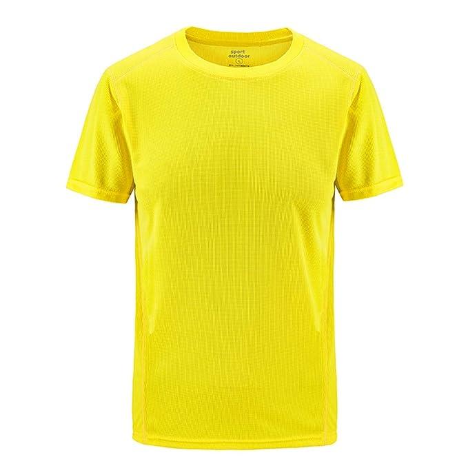ESAILQ Camiseta de equipación de Manga Corta para Hombre Color Sólido Polo para Hombre Camisa Elástica Casual/Formal para Hombre: Amazon.es: Ropa y ...