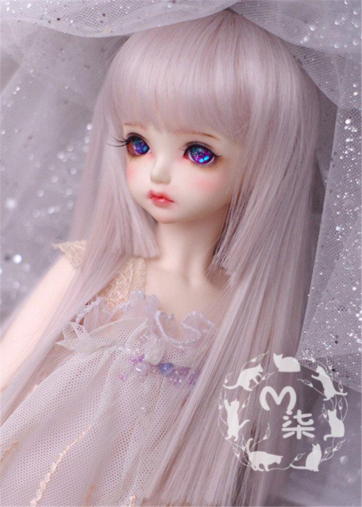 Tita-Doremi BJD Poupée Perruque Ball-jointed Doll 1/6 6-7 Inch 15-17cm YOSD DZ DOD Purple Short Perruque Cheveux (Perruque Seulement,pas une poupée ) pas une poupée ) LanTing