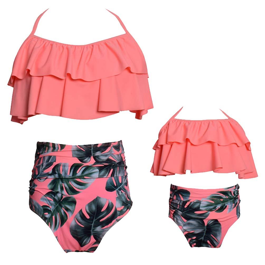 B Rysly Womens Girls Halter Top High Waisted Bathing Suits Ladies Swimwear Bikinis Set