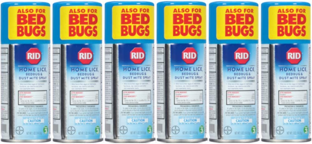 Rid Home Lice, Bedbug And Dust Mite Spray - 5 Ounces (Value Pack of 6)