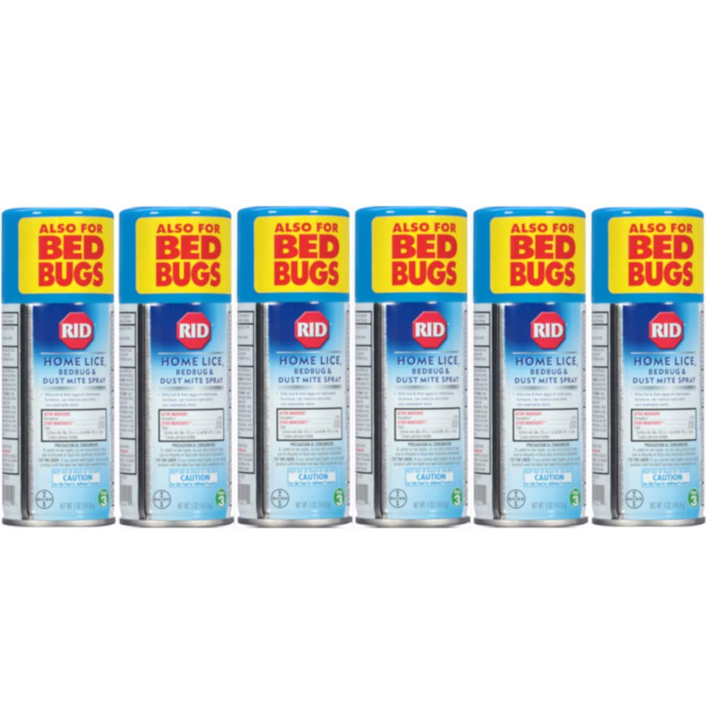Rid Home Lice, Bedbug And Dust Mite Spray - 5 Ounces (Value Pack of 6) by Rid