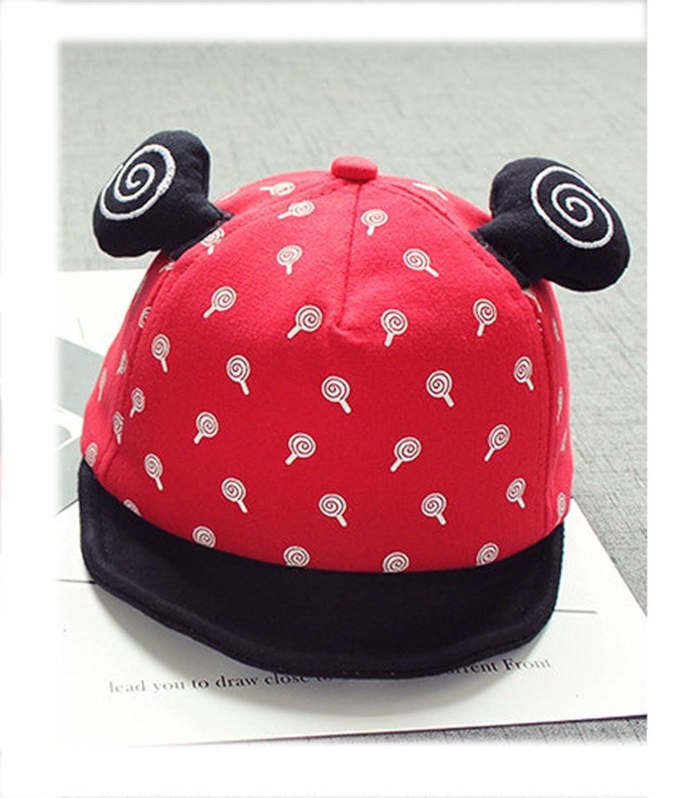 ZEHAT Red Fashion Cap Sweet Soft Hat Baby Hats Winter Ear Warm Headwrap Peaked Cap Infant Baby Boy Girl Baseball Cap