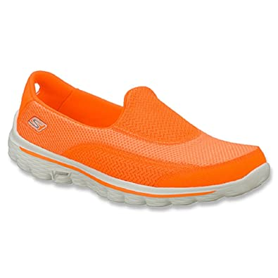 fb1c2fae234df Skechers GO walk 2 Ladies Fitness Trainers in Orange (5): Amazon.co ...