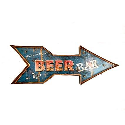 d0916fecaf7 Cartel Luminoso Vintage Letrero Metálico Artesania Accesorios Decoración  Hogar - Beer bar
