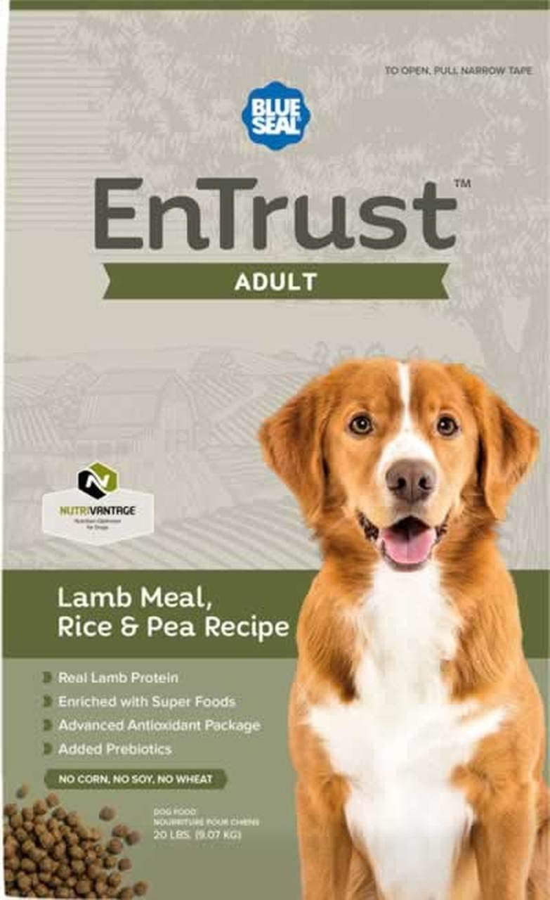 Blue Seal EnTrust Adult Lamb Meal, Rice Pea Dog Food