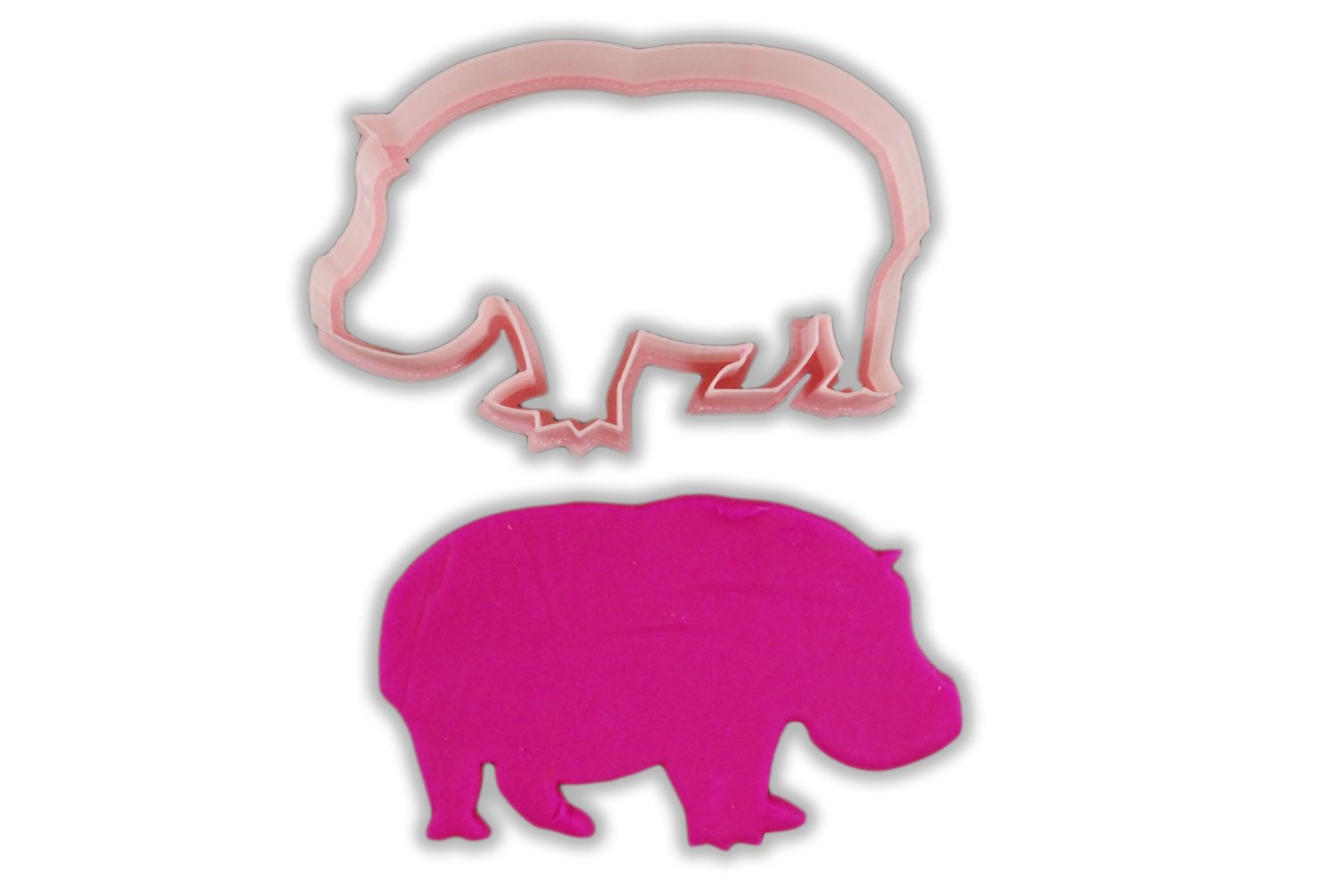 Lumpy Hippo Animal Cookie Cutter - LARGE - 4 Inches