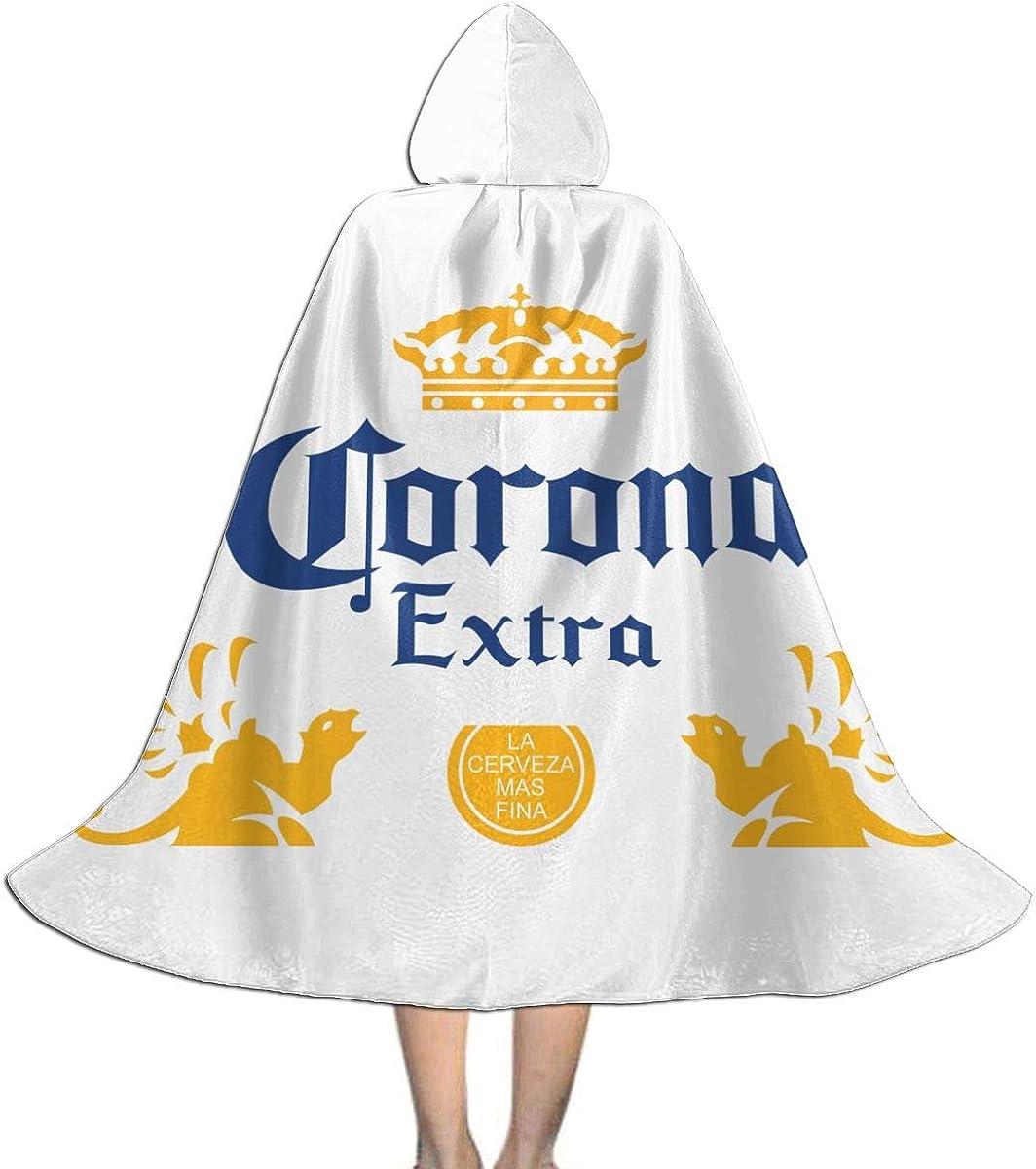 Fasenix Corona Extra Beer Kids Hooded Cloak Creative Long Christmas Halloween Decoration Costume Cape Black Amazon Ca Clothing Accessories